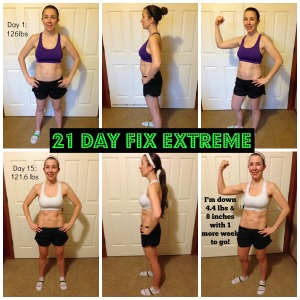 21 Day Fix Week 2 Progress